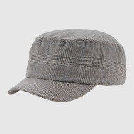 Check Gingham Cotton Army Cap