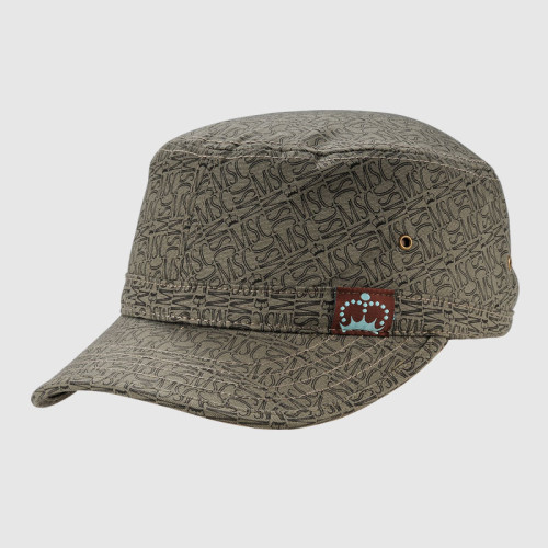 Printing Cotton Army Cap With Woven Label