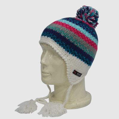 Jacquard Beanie With Bobble