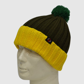 Kraft Knit Beanie With Bobble