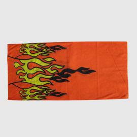 Red Cotton Muffle With Fire Printing