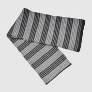 Gray Stripe Knit Scarf