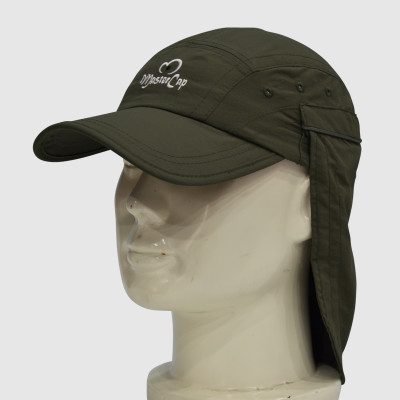 Army green Floppy Hat with Embroidery
