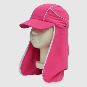 Pink Functional Floppy Hat with Embroidery