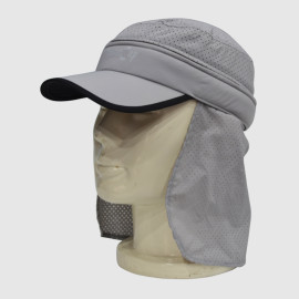 Gray Functional Floppy Hat With Printing