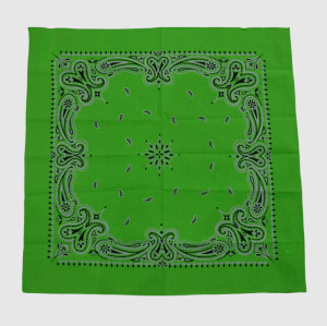Green Cotton Bandana with Printing