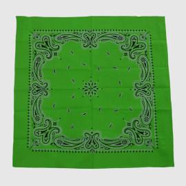 Green Cotton Bandana with Printing