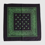 Black Bandana with Green Printing
