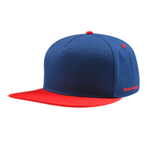 5 Panel Snapback Hats and Colour Blue And Red