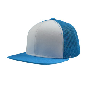 6 Panel Snapback Hats and Colour BLue and WHite