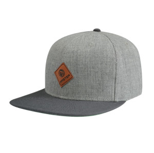 PU Badge Snapback Hats
