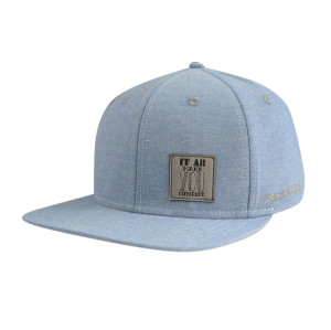 6 Panel Snapback Caps with Embossed Suede Patch Logo