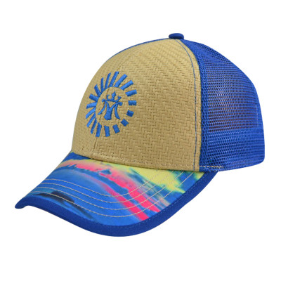Heat Tranker Printing 5 Panel Baseball Cap with Embroidery Logo