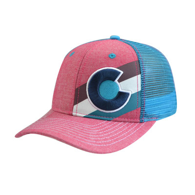 6 Panel Baseball Cap with Embroidery and Printing