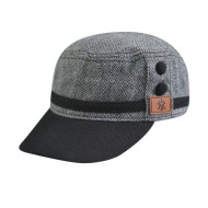Army Cap with PU Embossed Badge