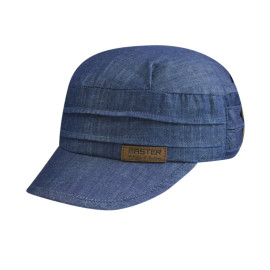 Denim Army Cap with Suede Embossed Chapter Logo