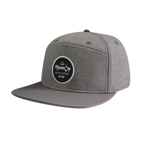 Camper Cap and Hat with Woven Label Edge Rust Log