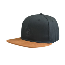 6 Panel Flat Brim Fitted Cap with Flat Embroidery Logo