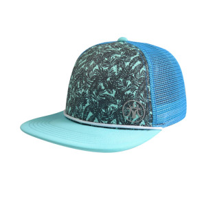 6 Panel Snapback Cap with Reflective plate printing Logo and Ribbon