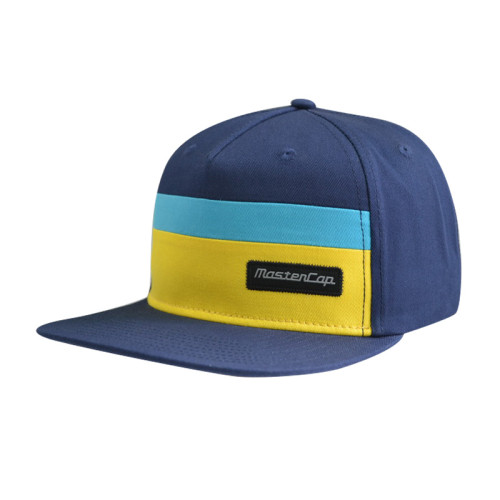 5 Panel Snapback Hat with Woven Label