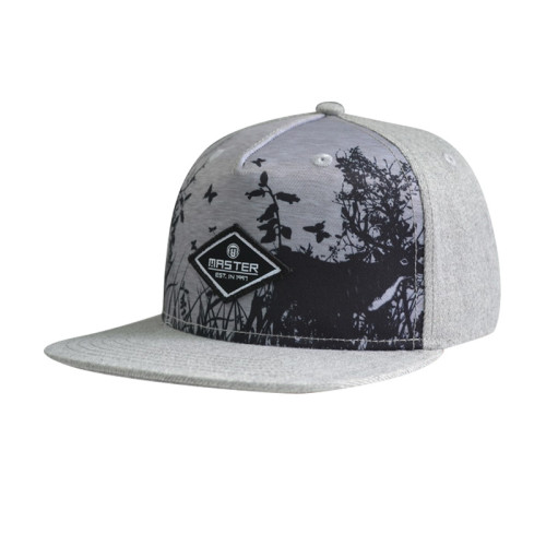 Sublimation Snapback Hat with Woven Label Patch