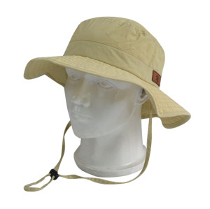 Outdoor Hat With PU Embossed Badge