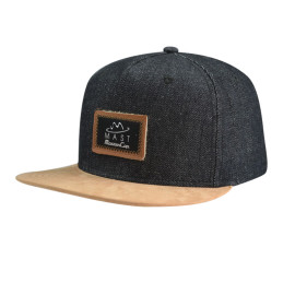 6 Panel Snapback Hat with PU Badge