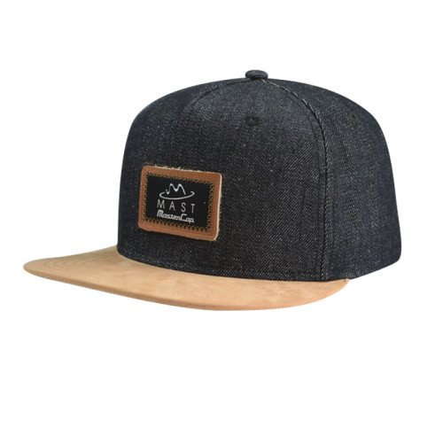 6 Panel Snapback Hat with PU Badge