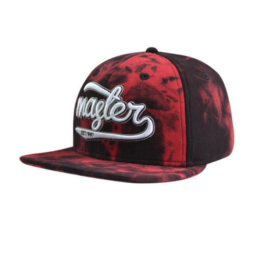 6 Panel Snapback Cap with 3D Embroidery Logo