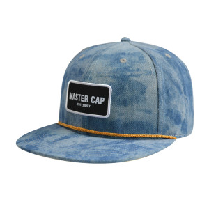 Snapback Cap with Woven Label Edge Rust And Ribbon