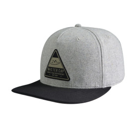 6 Panel Snapback Cap with Woven Label Edge Rust