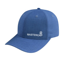 6 Panel Fitted Cap with Flat Embroidery Logo