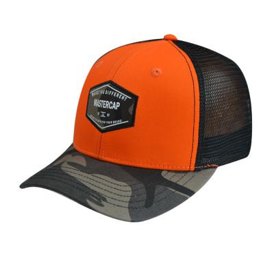 Baseball Cap with Woven Label Edge Rust