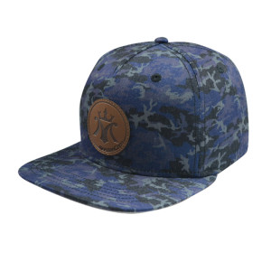 Camo Cap with PU Embossed Badge