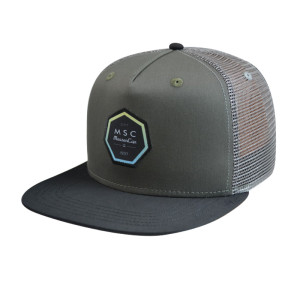Snapback Cap with Woven Label Badge