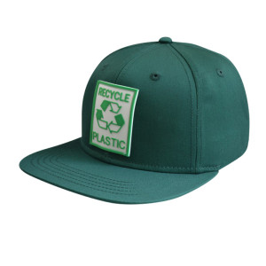 6 Panel Snapback Cap with Rubber Badge