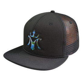 6 Panel Snapback Cap with Applique Embroidery