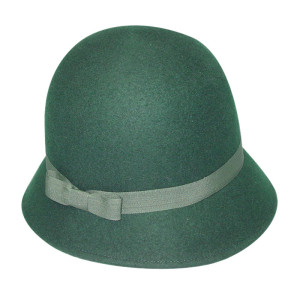 Green Felt Hat With Narrow Goods