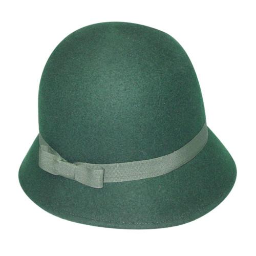 Green Felt Hat with Narrow Goods