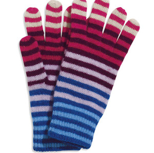 Colored Striped Gloves