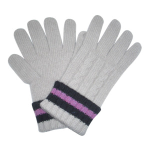 Gray Knit Gloves