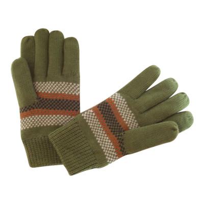 High Quality Green Jacquard Gloves