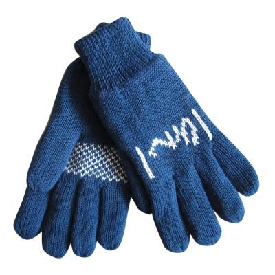 Blue Jacquard Gloves