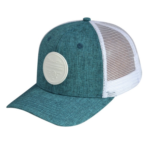 6 Panel Baseball Cap with Rubber Badge