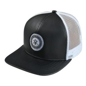 Custom 6-panel trucker cap Snapback with Woven Label Patgh