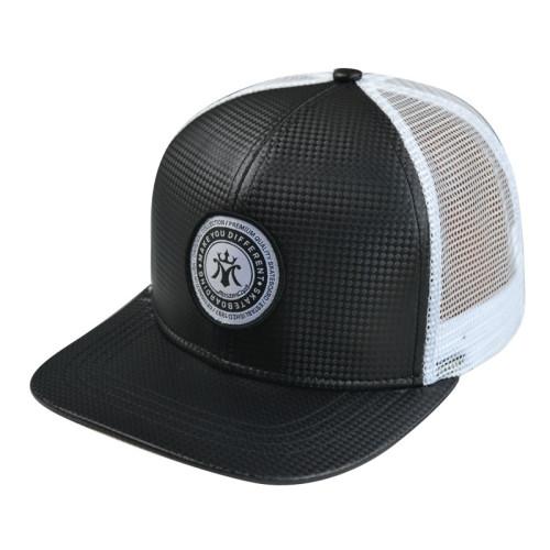 Custom 6-panel trucker cap Snapback with Woven Label Patgh