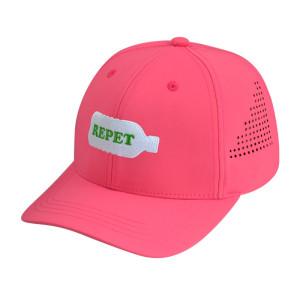 100% Recycled PET Fabric Custom head wear Made Embroidery Logo 6 Panel Baseball cap