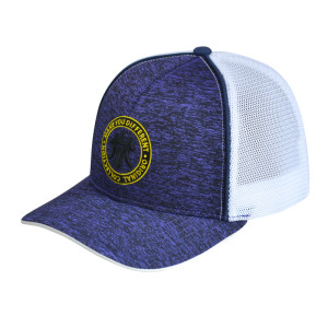 Custom retro knitted fabric yupoong trucker hat baseball cap with embroidery