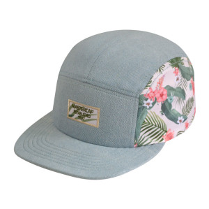 Custom 5-panel Sublimation champing cap snapback cap camper cap