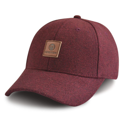 Custom 6 panel baseball cap with PU Embossed Badge
